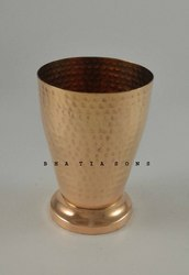 Bhatia sons Original Hammered Copper Tumbler, Capacity (millilitre): 300 Ml, Polished