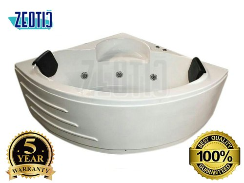 Zeotic Two Person/ Couple Corner Jacuzzi Massage Whirlpool Bathtub