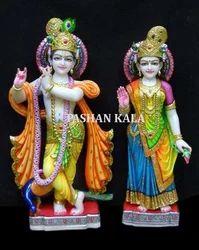 Beautiful Marble Radha Krishna Moorti