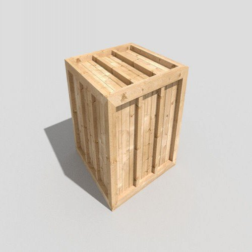 Rectangular Wood Low Poly Wooden Crate, for Packaging