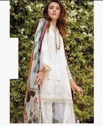 White Cotton Designer Kurti For Ladies