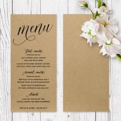 Paper Menu Card Printing Services