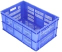 Blue/orange/yellow/black Rectangular Plastic Vegetable Crates, Capacity: 57 Ltr
