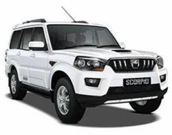 White Mahindra Scorpio Car