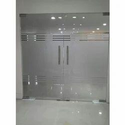 Hinged Frameless Interior Swing Glass Doors
