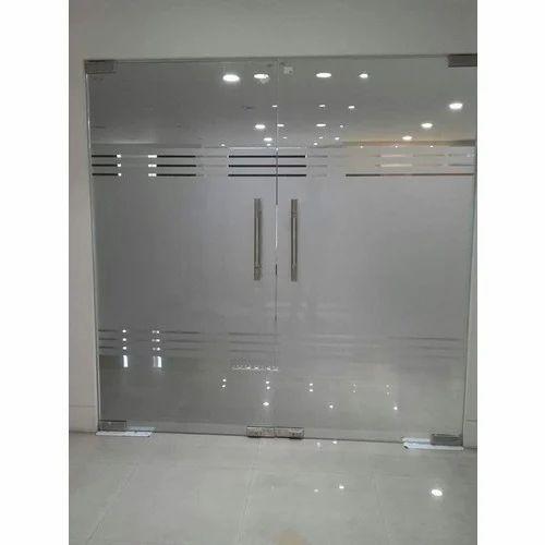wholesale dealer 8dd6e d09f3 Frameless Interior Swing Glass Doors