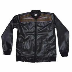 Black Almex Boys Leather Jacket