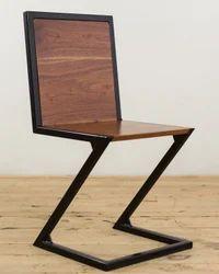 Industrial Walnut Z- Dining Chair, Industrial Furniture