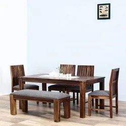 Brown Modern Designer Wooden Dining Table Set, Size: 2.5 X 5.5 Feet, for Home