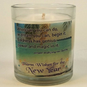 New Year Motivational Candles