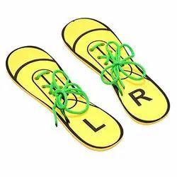 Flat Shoe Lacing Shoe / Shoe Tying Toy / Lacing Toy / Montessori Practical Life Activity