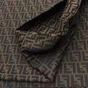 FF Fabric Fendi Inspired Fabric Jacquard Bronzy Brown
