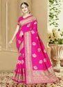 Art Silk Wedding Wear Heavy Work Saree