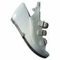 Womens White Pvc Heel Sandal, Size : 7-11