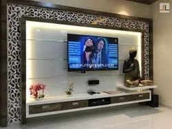 On Saint Gobain TV Unit Highlighter Back Painted Glass, Size: 2440 Mm X 3660 Mm