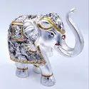 Silver Plated Elephants