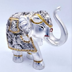 Silver Plated Elephants