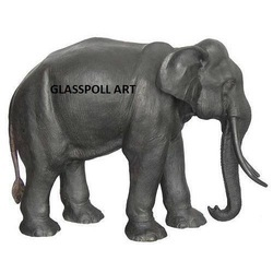 Fiber Elephant Animal Statue, Size: 4 x 10 inch