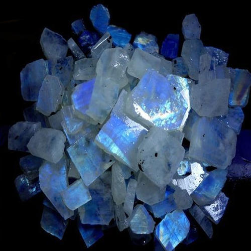 rainbow moonstone rough at rs 40 gram rough gemstones shivani