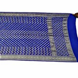 All Over Blue Color Fancy Design Banarasi Georgette Dupatta