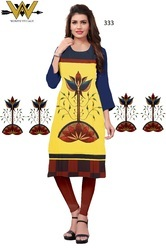 multi colour digital printed crepe kurti