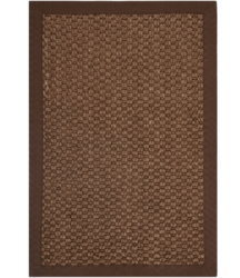 Brown, Olive Green Seagrass Rug