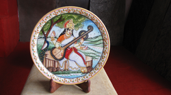 Marble Saraswathi Plate With Stand