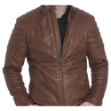 Mens Brown Rexine Jacket