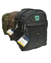 Black Polyester Three Fold Shoulder Backpack, Capacity: 30L, Size: 17.5*13.5*7.5