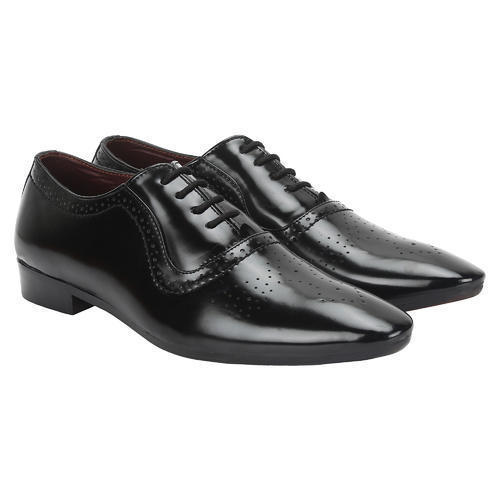 Mens Black Leather Trendy Formal Shoes