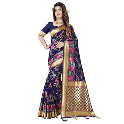 1497 Ladies Designer Handloom Silk Saree