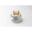 Melange Silver Plated Jewelry Box with Butterfly