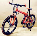 Ferrari Orange Foldable Cycle