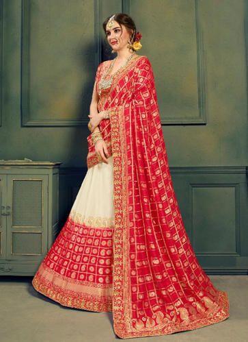 a340b2bf1 Bridal Lehenga Choli - Designer Bridal Zari Stone Work Lehenga Choli ...