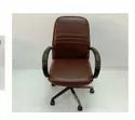 G Ten Rexine Brown Chair
