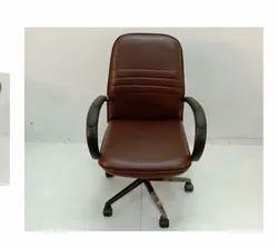 G Ten Rexine Brown Chair