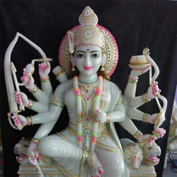6 ft Marble Durga Maa Statue