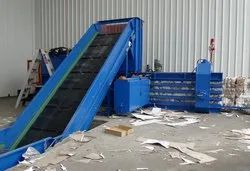 Horizontal Cardboard Baling Press