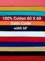 Cotton Satin Code Shirting Fabric