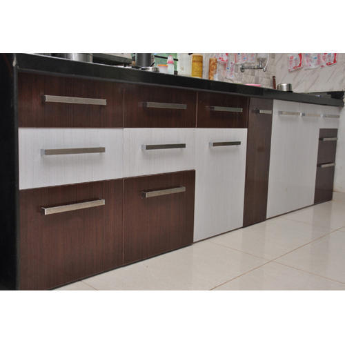 Raunaq Brown And White Modern Pvc Kitchen Cabinets Rs 350 Square Feet Id 17092387097