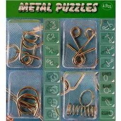 Metal 3D Interlocking Wire Puzzle Game