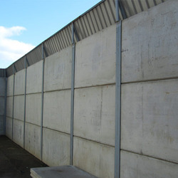 7 Feet Precast Concrete Panel Boundary Wall