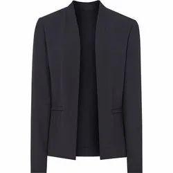 Black Cotton Mens Full Sleeve Formal Blazer