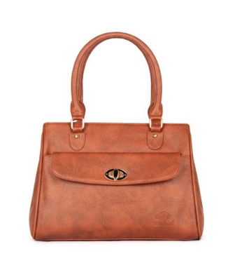 Brown The Clownfish Doyenne Sand Women Handbag Office Bag
