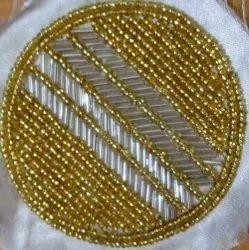Golden Beaded Coaster