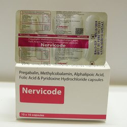 Pregabalin Methylcobalamin Alphalipoic Acid Folic Acid and Pyridoxine Hydrochloride Capsules
