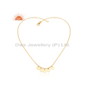 18K Gold Plated Silver Women's Designer Necklace