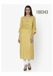 Fancy Designer Cotton Kurti By Parvati Fabric