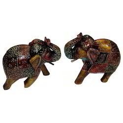 Wooden Embossed Work Elephant