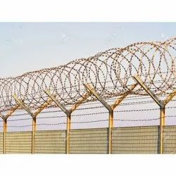 Single Razor Galvanized Iron Barbed Concertina Wire, For Industrial